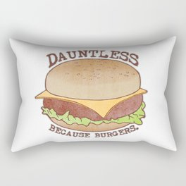 Dauntless - Because Burgers Rectangular Pillow