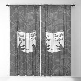 Book Lover, Do Not Disturb Sheer Curtain