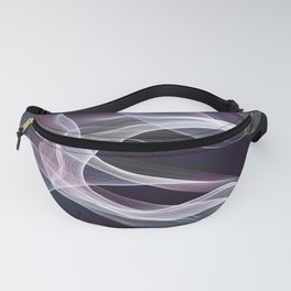 Moody & Beautiful Smoky lacy flux - black, blue, pink #abstractart Fanny Pack