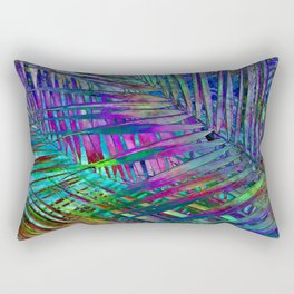 Multicolor Palm Leaves 2 Rectangular Pillow