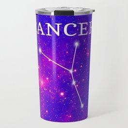 Starry Cancer Constellation Travel Mug