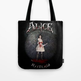 Alice Madness Returns Hysteria Game Design Tote Bag