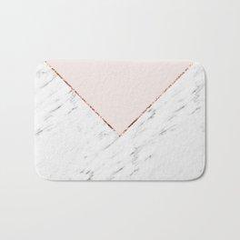 Peony blush geometric marble Bath Mat