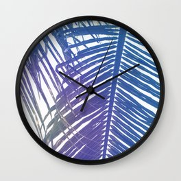 Coco Palm Leaf Zen Poster Wall Clock