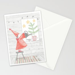 Growing a Christmas tree Stationery Cards