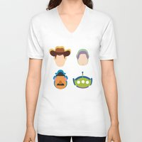 toy story V-neck T-shirts featuring Toy Story by Raquel Segal