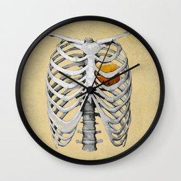 heart of pumpkin Wall Clock