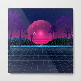 80's Flashback Synthwave Metal Print