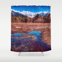 rustic Shower Curtains featuring Rustic by Jonah Anderson