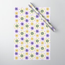Crazy Daisies Lavender Wrapping Paper