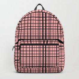 Pink black plaid #pink #plaid Backpack