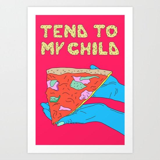 Pizza Child Art Print