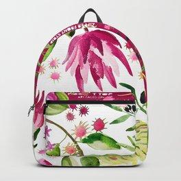 Protea Flower Bloom Backpack