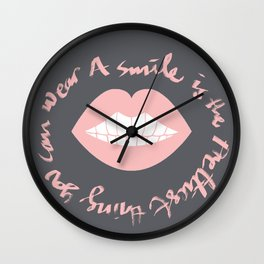Prettiest Smile Wall Clock