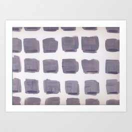 Purple Squares Art Print