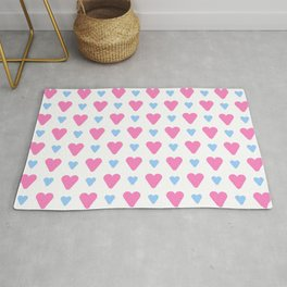 heart and love 13- Blue and pink Rug