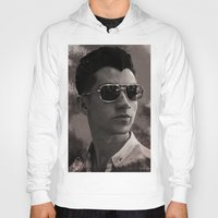 alex turner Hoodies featuring Alex Turner by Tune In Apparel