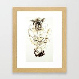 Tristan Corbière, Thick Black Trace, Guitare Framed Art Print