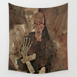 "Egon Schiele ""Self-Seer II (Death and Man)"" Wall Tapestry"
