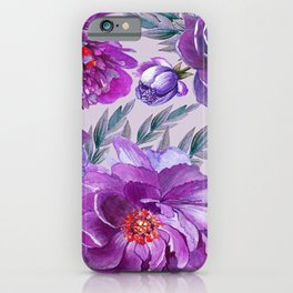Violet and Purple Flowers iPhone Case
