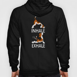 INHALE EXHALE BEAGLE DOG Yoga T-Shirt Funny Farting Gift Gas Hoody