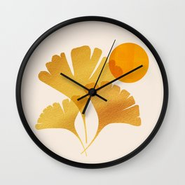 Abstraction_SUN_Ginkgo_Minimalism_001 Wall Clock