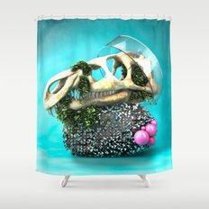 DINOSAUR SKULL ABSTRACT Shower Curtain