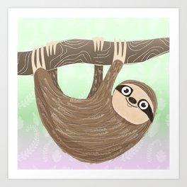 Hello Sloth Art Print