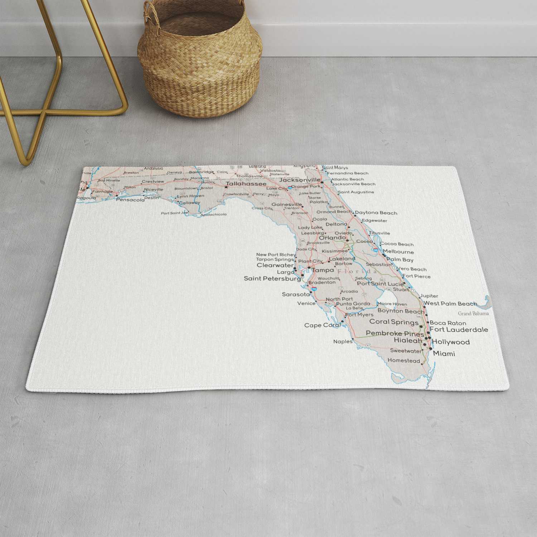 Detailed map of Florida Rug by blursbyaishop on big map of florida, political map of florida, towns of florida, southern florida, full large map of florida, sarasota florida, plantation florida, printable map of florida, full size map of florida, highway map of florida, ocala florida, map of brandon florida, map of pace florida, topo map of florida, satellite map of florida, key largo florida, the villages florida, trinity florida, us map of florida, islands of florida,