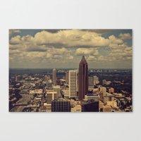 atlanta Canvas Prints featuring Atlanta by Ubik Designs