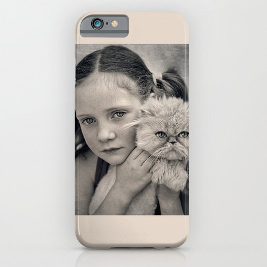 A Girl and her Cat iPhone & iPod Case