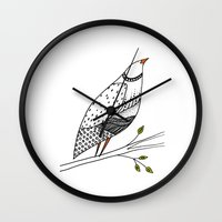 aelwen Wall Clocks featuring neville by sylvie demers