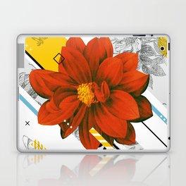 red flower collage Laptop & iPad Skin