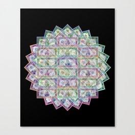 1 Billion Dollars Geometric Black Bling Cash Money Canvas Print