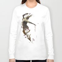 crane Long Sleeve T-shirts featuring Crane  by Devon Busby Busbyart