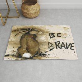 Be Brave Rabbit Rug