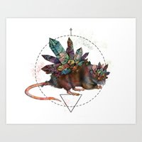 rat Art Prints featuring Rat by Emma Black