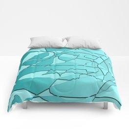 Shattered Teal Comforters