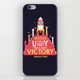 Unity is victory iPhone Skin