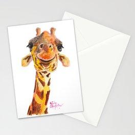 Nosey Giraffe ' Jo ' by Shirley MacArthur Stationery Cards