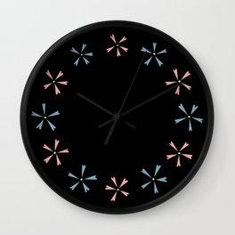 Choppy Creeping Phlox Wall Clock
