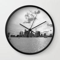 boston Wall Clocks featuring Boston by NaturallyJess