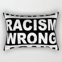 Make Racism Wrong Again  Anti-Hate Gift Rectangular Pillow