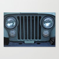 jeep Canvas Prints featuring Jeep by Rosa Maun