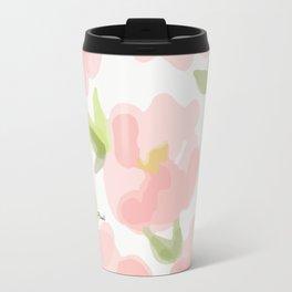 Floral watercolor pattern - pink roses Travel Mug
