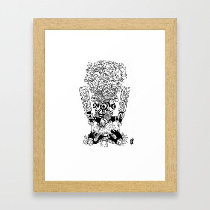 Paddle Peaces Framed Art Print