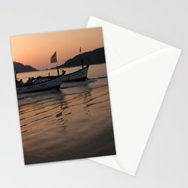 Returning from Dolphin Trip Palolem Stationery Cards