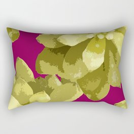 Succulent Plants On A Burgundy Background #decor #buyart #society6 Rectangular Pillow