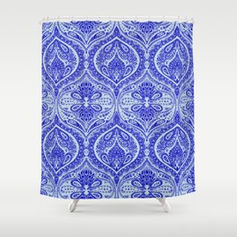 Simple Ogee Blue Shower Curtain
