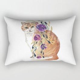 cat with flower boa Rectangular Pillow